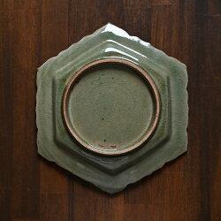森緑釉六角皿作家「山本雅彦」