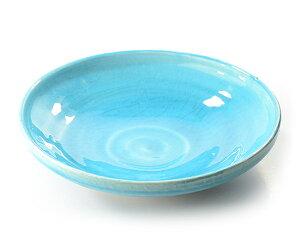 和食器・トルコブルー七寸皿 作家「荒木義隆」