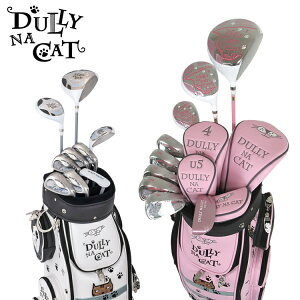 DULLY NA CAT Ladies Golf Set 9 Golf Clubs Head Cover with 4 Caddy Bags [DN-SET03] [Cat] 【Cat】