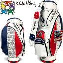 キースヘリング ゴルフ シグネチャー キャディバッグ American flag × Pattern KHCB-04 Keith Haring カートバッグ・・・