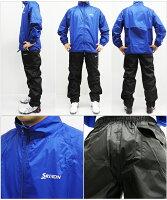 【2015年モデル】ダンロップスリクソンレインウェア上下セットジャケット+パンツSMR5000【耐水圧10,000mm】【ブラックブルーグレー】