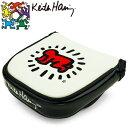 キースヘリング ゴルフ パターカバー Baby KHPC-03M 【マレット型】【マレットタイプ】【ホワイト】