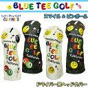 【即納】 ブルーティーゴルフ ドライバー用 ヘッドカバー スマイル & ピンボール 【BLUE TEE GOLF】【SMILE & PINBALL】