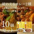結わえるカレー2種(豆乳レモンチキンクリーム×ごろごろ野菜)10個セット