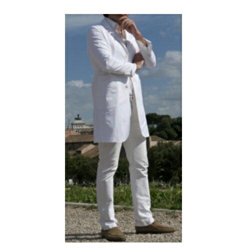 KAZEN イサルティ セカンドライン メンズ ロング丈 ホワイト IS210-C/10