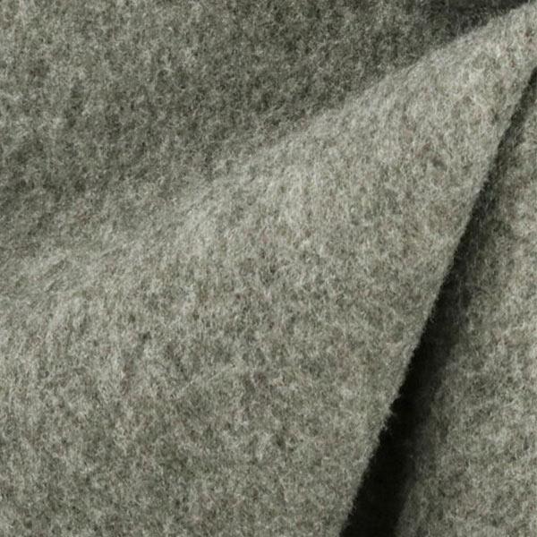 【数量5から】 生地『カルゼ フリース裏起毛 1番色 ライトグレー』【雑誌掲載】
