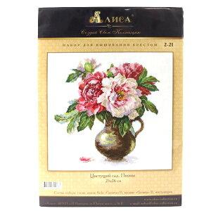 輸入刺しゅうキット 『Blooming Garden Peonies(ブルーミングガーデンピオニー)』 ALISA(アリサ)