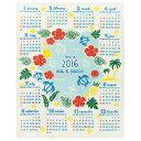 ○2016年 ハワイアン ジュートカレンダー アロハ/25214790 [暦/平成28年/雑貨/インテリア]