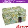 ○LIBERTYリバティプリントソーイングバスケット(SmallSusanna×ライトグリーン)/SO-3638158-AE[ソーイングボックス/裁縫箱]