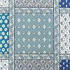 『ソレイアードオックス生地カットクロス』50cm×110cm30Gパッチワーク柄青ブルー水色
