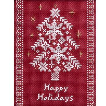 【イベントセール】 ルシアン 刺しゅうキット クロスステッチノエル ツリーレッド 955 [クリスマス コスモ COSMO 刺繍 リース ツ