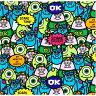 ○KOKKA(コッカ) ディズニー PIXAR MONSTERS モンスターズインク オックス生地/GR-1045-1A[キャラクター生地/布/コットン/入園入学]