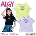 【送料無料】ALGYアルジー半袖Tシャツ2021夏物サイズ(XXS/XS/S/M)シースルーロゴスリーブTメール便可