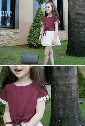 子ども子供服女の子女子キッズキッズTシャツTシャツレースTシャツ半袖TシャツレースTシャツ無地トップスシャツ