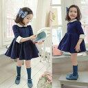 韓国子供服 フォーマル ワンピース★シンプルで高級感が溢れるワンピースドレス!★まるで少...