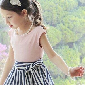 パールネックレス×パールリボンブレスレットセット【メール便送料無料】子供パールネックレスパールブレスレット