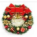 クリスマス飾り クリスマスリース クリスマス リース 飾り 30cm 玄関 クリスマス オーナメント おしゃれ X'MASリース 豪華 造花