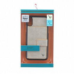 【在庫処分】MSソリューションズiPhoneX+USmith/カード収納ポケット付PUケースLP-I8ULSGY【送料無料】4589762267303