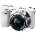 ソニーミラーレス一眼カメラα6000パワーズームレンズキットILCE-6000L(W)ホワイト