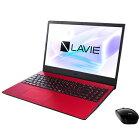 NECノートパソコンLAVIEN15PC-N1535AARカームレッド15.6型/Windows10Home64bit/Ryzen33250U/メモリ4GB/SSD256GB/MicrosoftOfficeHome&Business2019