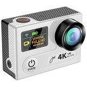 JOYEUX 4K-WiFi1080P アクションカメラSUPER PRO SVC600SV シルバー