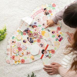 色紙寄せ書きシールかわいいおしゃれ大人数デザインサイズイラスト二つ折りダイカット色紙フラワーブーケピンクゼットアンドケイDIECUTSHIKISHIflowerbouquet