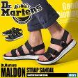 送料無料 ドクターマーチン Dr.Martens マルドン ストラップ サンダル ブラックDR.MARTENS MALDON STRAP SANDAL 22278001コンフォート 靴メンズ(男性用)