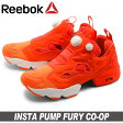 送料無料 リーボック REEBOK スニーカー インスタ ポンプ フューリー CO-OPピーチ×レッド×ホワイト (REEBOK INSTA PUMP FURY CO-OP V67424) レディース(女性用) 靴 シューズ