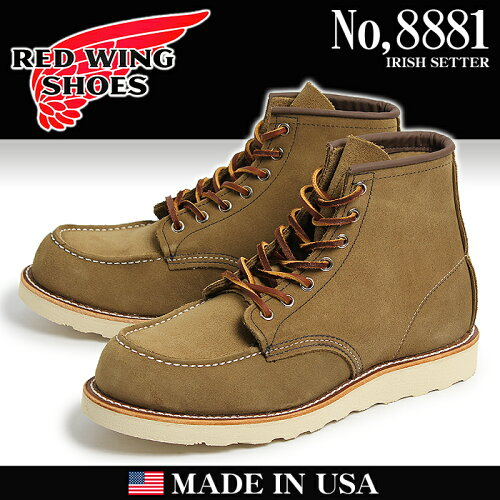 送料無料 REDWING レッドウィング ブーツ 8881 6インチ オリーブ アイリッシュセッター レッド・ウ...