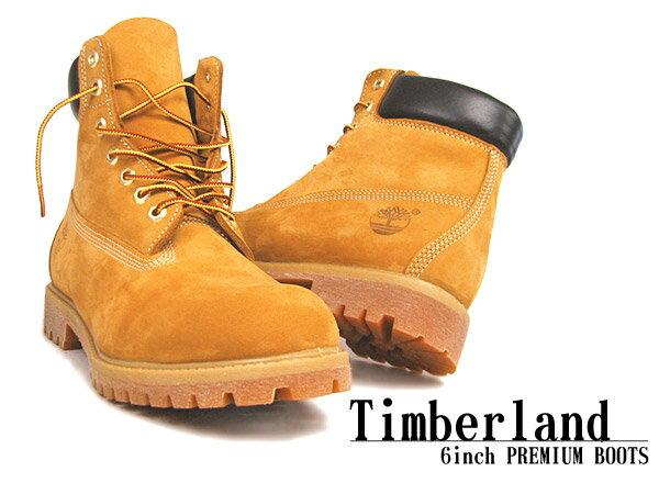 送料無料 ティンバーランド ブーツ 6インチ プレミアムブーツ ウィートヌバック (TIMBERLAND 10061 6inch PREMIUM WATER PROOF BOOT) メンズ(男性用) アウトドア メンズ ブーツ 靴