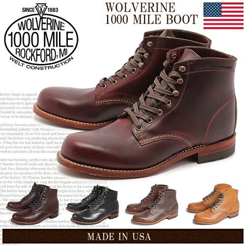 送料無料 ウルヴァリン(WOLVERINE) ウルバリン ワークブーツ 1000マイル ブーツ 全5色 (WOLVERINE ...