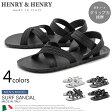 送料無料 イタリア製 ヘンリーヘンリー サーフ 全4色 (HENRY&HENRY SURF)メンズ(男性用) ビーチサンダル ヘンリー&ヘンリー サンダル バックストラップ