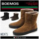 送料無料 BOEMOS ボエモス ショート ブーツ 全3色(VIVEL I4-4389S) メンズ(男性用) 天然皮革 レザー ファー ボア カジュアル