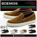 送料無料 BOEMOS BOEMOS ボエモス スエード スリッポン 全6色(VIVEL I4-8511) メンズ(男性用) シューズ 天然皮革 本革 カジュアル スニーカー
