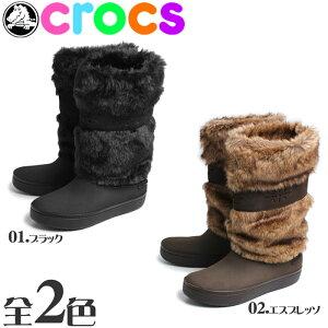 送料無料☆ 雪の日 も安心!暖かくて快適な ブーツ♪送料無料 クロックス(CROCS) モデッサ ファ...