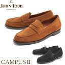 送料無料 ジョンロブ キャンパス12 3198 JOHN LOBB CAMPUS 2 ペニー ローファー シューズ ブラック タバコ 全2色 JOHNLOBB CAMPUS12 3198 PENNY LOAFER SHOES メンズ(男性用)