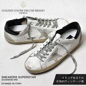 送料無料 ゴールデングース GOLDEN GOOSE スニーカーズ スーパー スター ホワイト×ブラックSNEAKERS SUPER STAR GCOMS590.W55シューズ 靴 レザー イタリア ローカット ヴィンテージ メンズ(男性用)