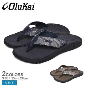 OLUKAI オルカイ サンダル 'OHANA PA'I 10437 メンズ ビーチサンダル ビーサン スリッパ ハワイ カジュアル ブランド つっかけ フットベッド 履きやすい 歩きやすい 鼻緒 海 川 黒 ブラウン 靴|sd-ktu|