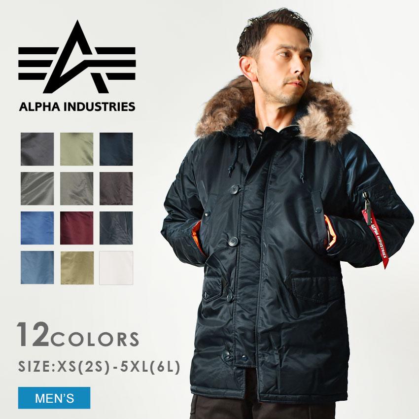 送料無料 ALPHA INDUSTRIES アルファ N-3B タイト スリムフィット ジャケット MJN31210C1 N-3B SLIMFIT JACKET 全6色コート n3b メンズ(男性用)