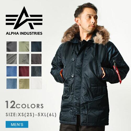 送料無料 ALPHA INDUSTRIES アルファ N-3B タイト スリムフィット ジャケット M...