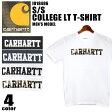 【DM便(旧メール便)可】 CARHARTT カーハート S/S カレッジ LT Tシャツ 全4色I018486 28 47 4 53 S/S COLLEGE LT T-SHIRT半袖 トップス ショートスリーブ ロゴT カモフラージュメンズ(男性用)