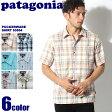 送料無料 PATAGONIA パタゴニア パッカーウェア シャツ 全6色PUCKERWARE SHIRT 53004半袖 チェック柄 レギュラーフィット 重ね着メンズ(男性用)