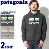 送料無料 PATAGONIA パタゴニア メンズ ライン ロゴ ミッドウェイト フーディ ブラック 他全2色MEN's L/S LINE LOGO MIDWEIGHT HOOD 39456 BLK FEA長袖 フード プルオーバー パーカー メンズ(男性用) ペアルック