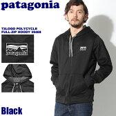 送料無料 PATAGONIA パタゴニア メンズ `73ロゴ ポリサイクル フルジップ フーディ ブラックMEN''''s L/S `73LOGO POLYCYCLE FULL ZIP HOODY 39468 BLK長袖 フード ジャージ パーカー メンズ(男性用) ペアルック