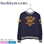 送料無料 POLO RALPH LAUREN ポロ ラルフローレン スウェット ネイビー グラフィックスウェット 323749992 メンズ レディース コットン カジュアル シャツ トップス ウェア 部屋着 プリント ネイビー ブランド 長袖 ファッション