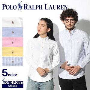POLO RALPH LAUREN ポロ ラルフローレン シャツ ワンポイント オックスフォードシャツ 323-677133 323-677177 メンズ レディース ブランド ピンク ボーイズ シンプル リトルポニー カジュアル 白 青 黄色 無地 長袖 刺繍|lad-fku sale men-fku|