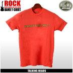 【メール便可】 80's&90's ROCK トーキング・ヘッズ 半袖 Tシャツ ピンクTALKING HEADS '77 TLK-1004プリント Tシャツ クルーネック トップス ウェアメンズ(男性用)