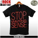 【メール便可】 80's&90's ROCK トーキング・ヘッズ 半袖 Tシャツ ブラックTALKING HEADS STOP MAKING SENSE TLK-1008プリント Tシャツ クルーネック トップス ウェアメンズ(男性用)