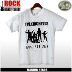 【メール便可】 80's&90's ROCK トーキング・ヘッズ 半袖 Tシャツ ホワイトTALKING HEADS LOVE FOR SALE TLK-1011プリント Tシャツ クルーネック トップス ウェアメンズ(男性用)
