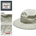 送料無料 HERSCHEL SUPPLY ハーシェル サプライ CREEK カーキゼブラプリント1028 0379帽子 ハット シンプルメンズ(男性用) 兼 レディース(女性用)
